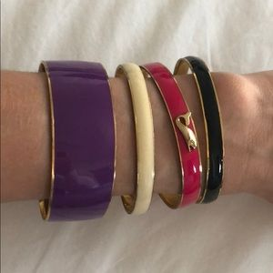 Assortment of J. Crew Bangle Bracelets